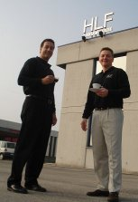 Paul Mungo and Kevin Gillenwater tour the HLF manufacturing facility in Treviso, Italy.